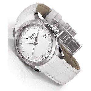 9.Tissot T035.210.16.011.00 (biały, elegancki, szwajcarskie)